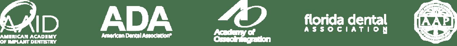Tampa bay periodontics accreditation logos